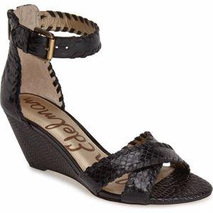 Sam Edelman Leather Silvia Ankle Sandal Wedges